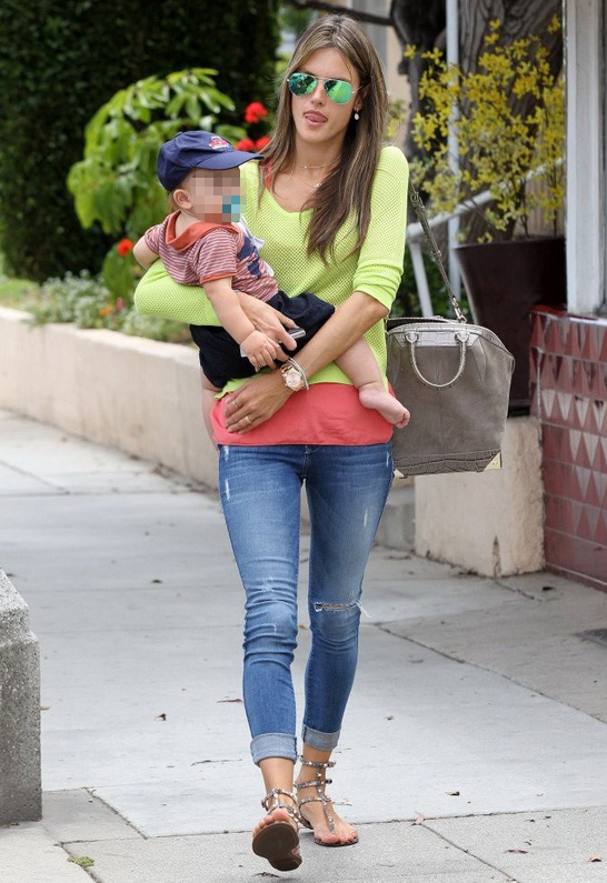 Alessandra Ambrosio wearing Black Orchid Bloodstone Jegging