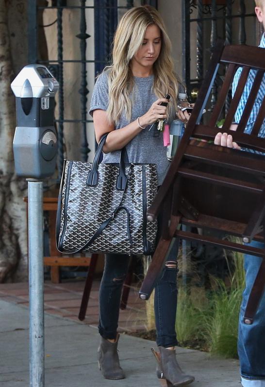Ashley Tisdale wearing Rag Bone/JEAN Skinny Jean with Holes in Rock