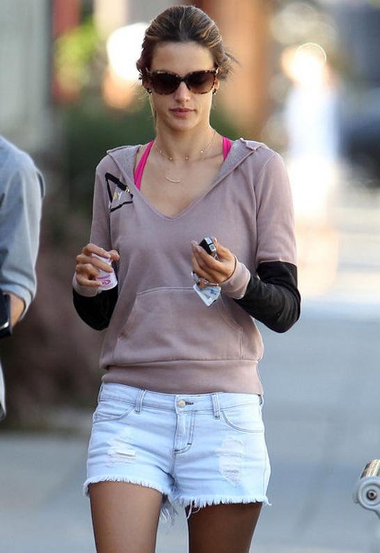 Alessandra Ambrosio wearing Siwy Alia Cut Off Shorts in Hello Prince