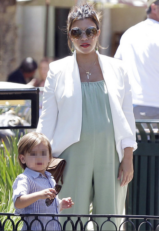 Kourtney Kardashian wearing Kate Frances Evelyn Blazer
