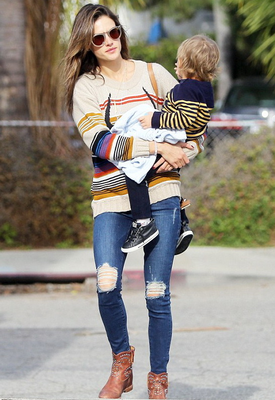 Alessandra Ambrosio in FRAME Denim