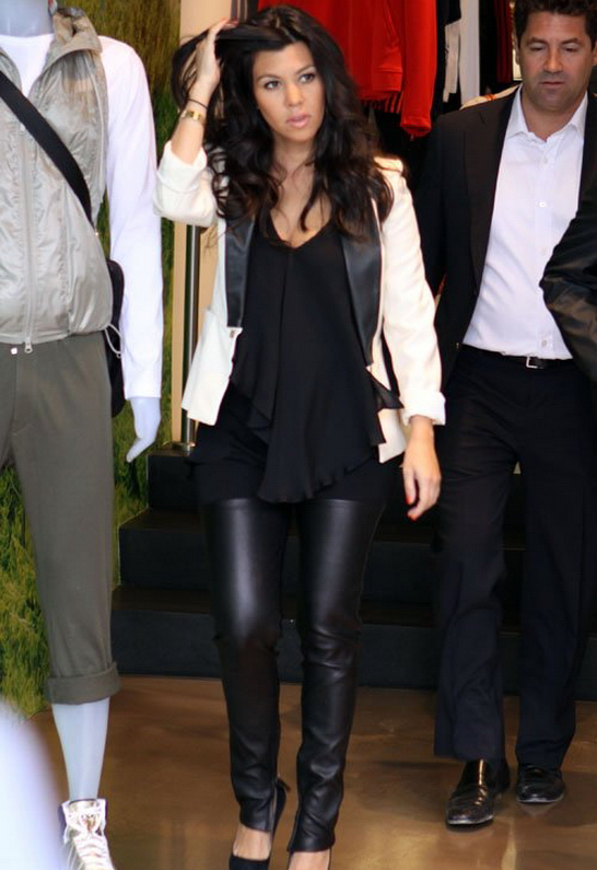 Kourtney Kardashian in Mason By Michelle Mason
