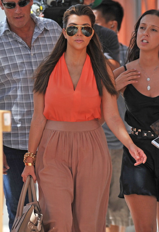 Kourtney Kardashian in Ramy Brook