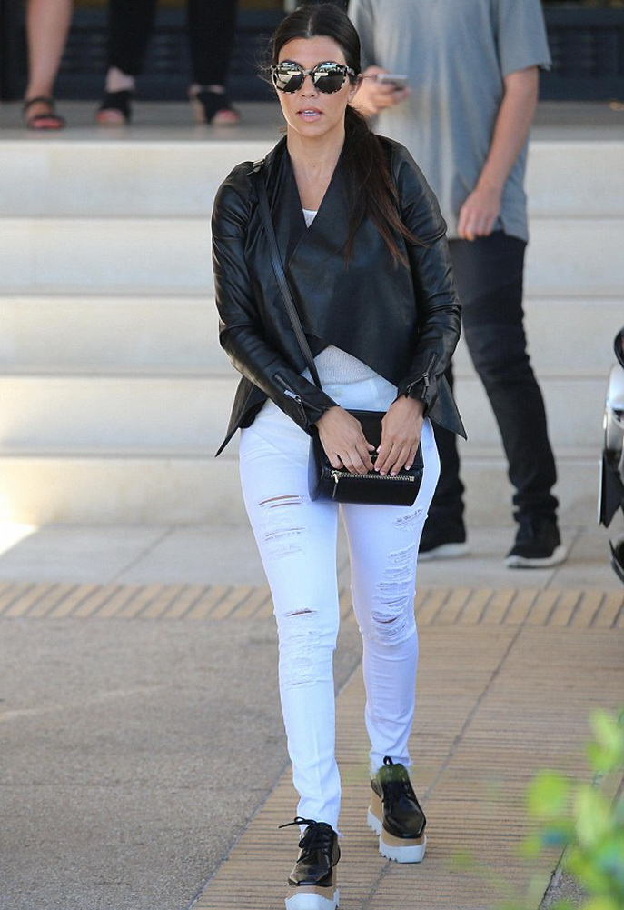 Kourtney Kardashian in FRAME Denim