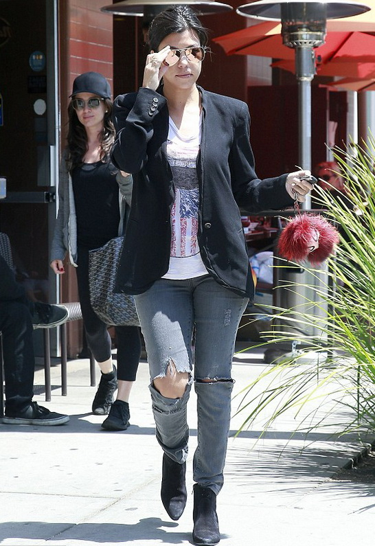 Kourtney Kardashian in Lauren Moshi