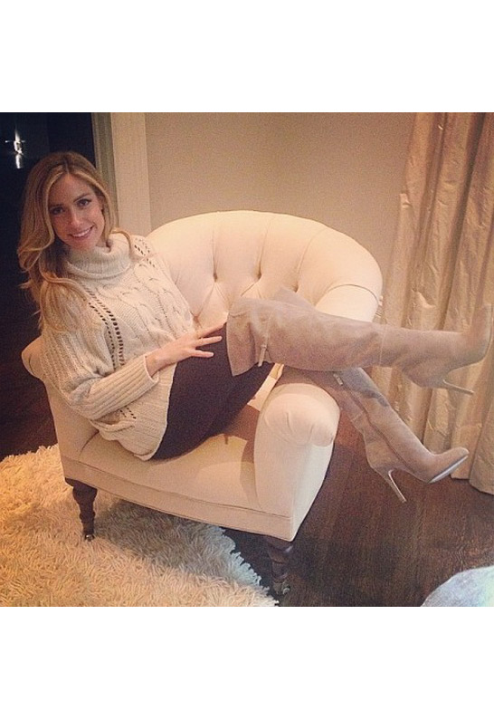 Kristin Cavallari wearing Kristin Cavallari Cassie Suede Thigh High Boot