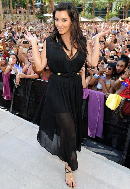 Kim Kardashian in Dolce Vita