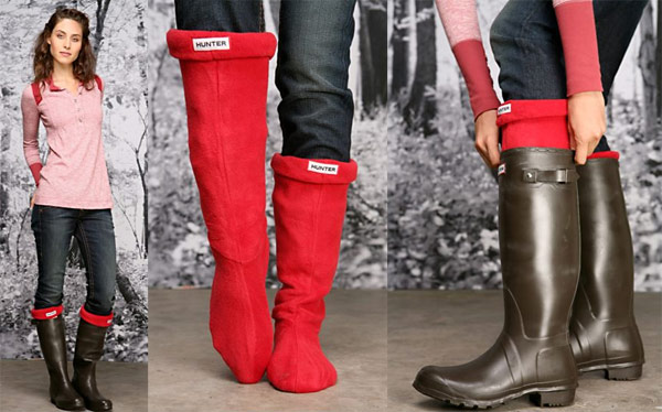 Hunter Boots welly warmers red