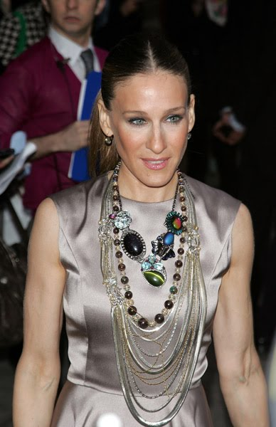 image of Sarah Jessica Parker Layering necklaces