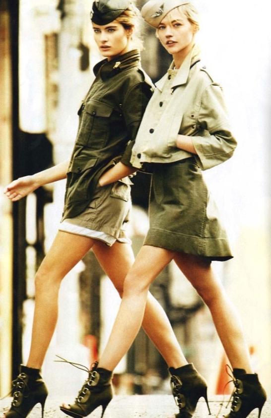 image of military fashion skirts