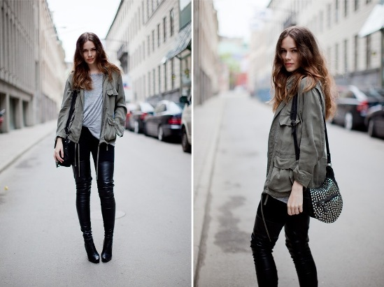 image of military fashion street style