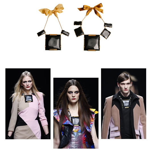 image of Ana Locking Fall/Winter 2010-2011 Black Maxi Necklace