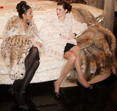 image of women wearing fur coats