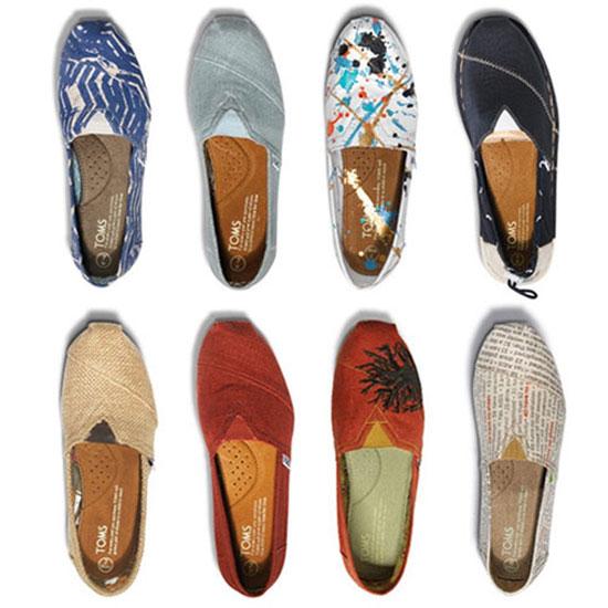 toms shoe selection