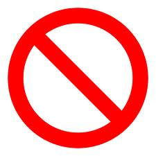 image of the universal no symbol