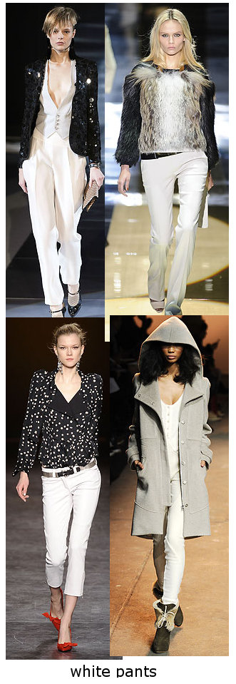 womens fall 2010 white trend