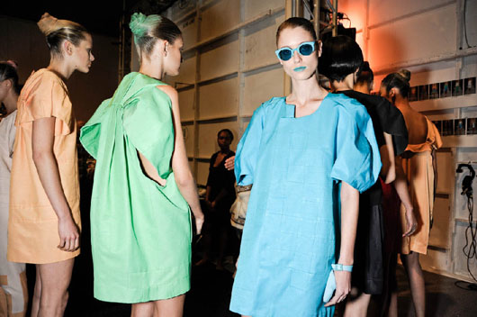 image of Alexandre Herchcovitch green dress