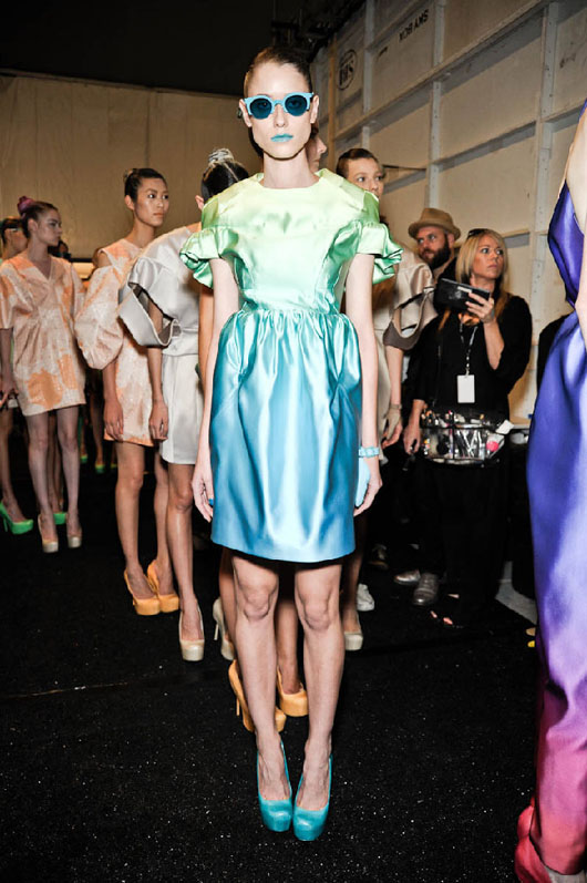 image of Alexandre Herchcovitch pastel dress