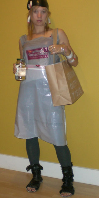 image of Nikki Lindgren recycled hobo outfit