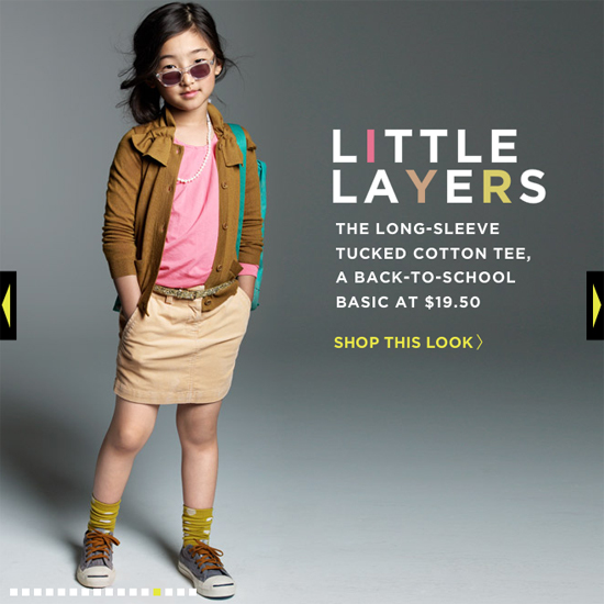 image of jcrew kids layered look