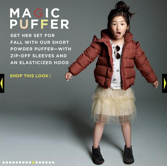 image of jcrew kids powder puff jacket