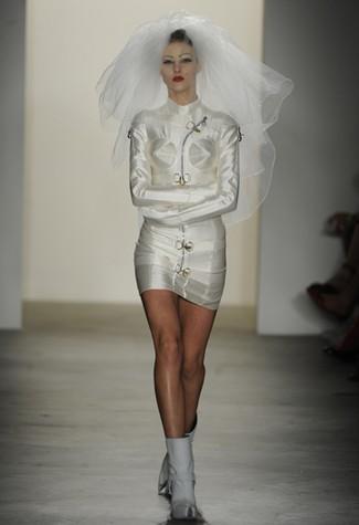 image of jeremy scott recycled wedding attire