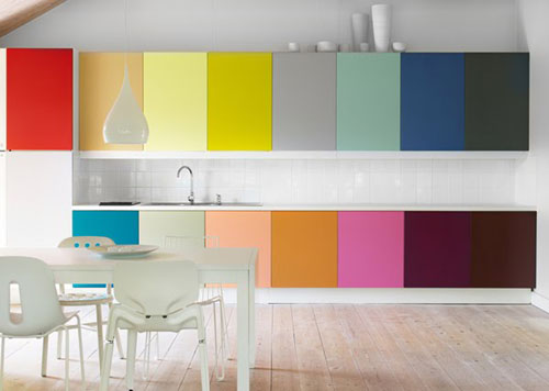 image of colorblock kitchen