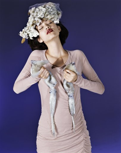 image of Kiko Mizuhara in the NYC Store's Holiday Campaign
