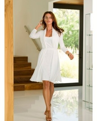 image of white 2-in-1 Knit Dress