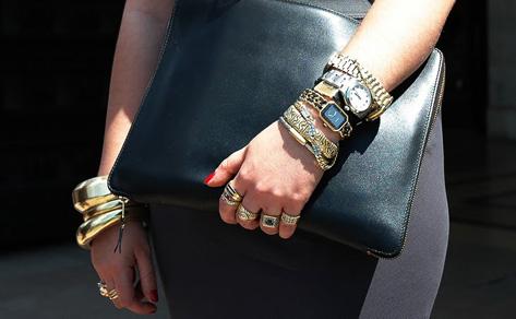 image of layered bracelets