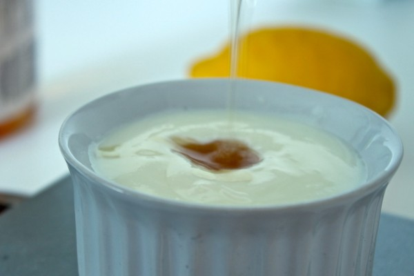 image of exfoliating Scrub made of Yogurt