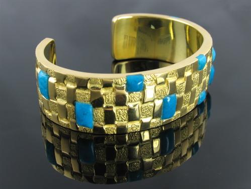image of 18 kt Basketweave bracelet by Ben Nighthorse