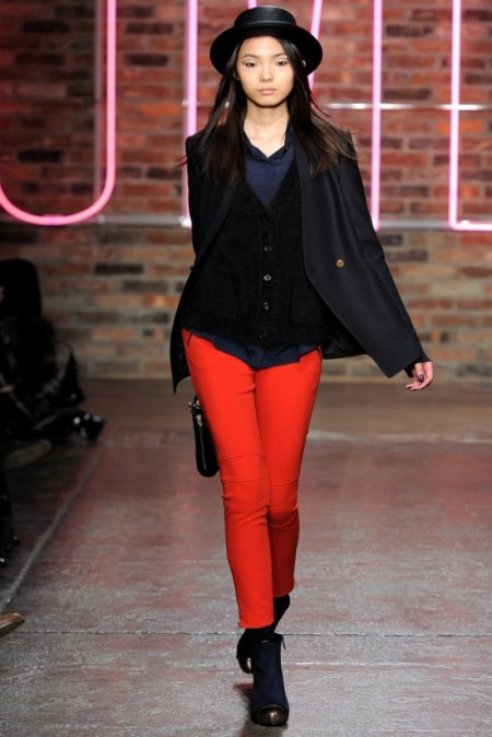 image of DKNY red pant fall 2011