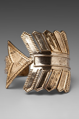 image of House of Harlow antiqued arrow cuff