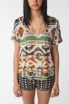 image of Urban Outfitters Ecote Warior inside out Print tee