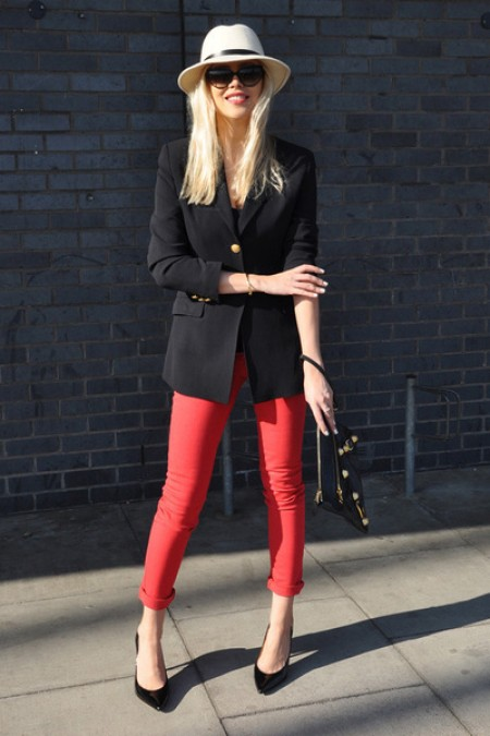 image of kate moss topshop red jeans 2011
