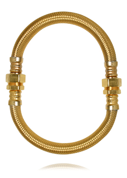 image of Ana Locking Golden tube choker