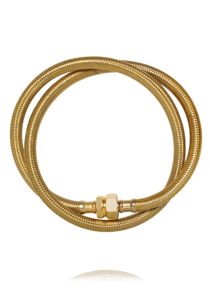 image of ana locking Golden tube necklace
