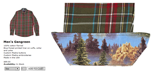 image of Pladra flannel shirt