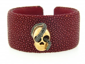 image of Atelier Minyon Black Diamond Skull Cuff