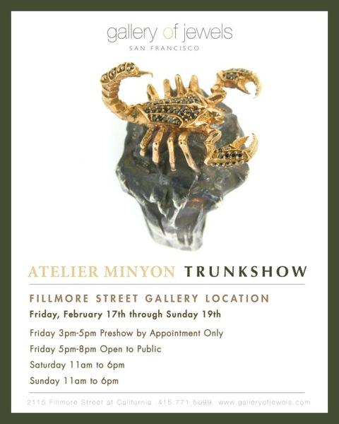 image of Gallery of Jewels SF flyer for Atelier Minyon