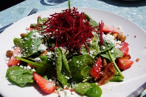 The Keg House Spinach salad