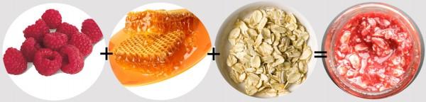 rasberry honey oat facial mask