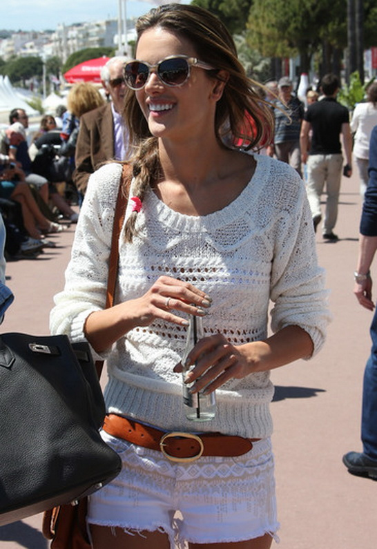 Alessandra Ambrosio in Blank NYC