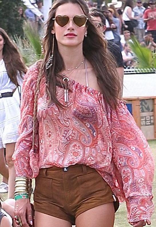 Alessandra Ambrosio wearing Wildfox Sun Lolita Deluxe Sunglasses