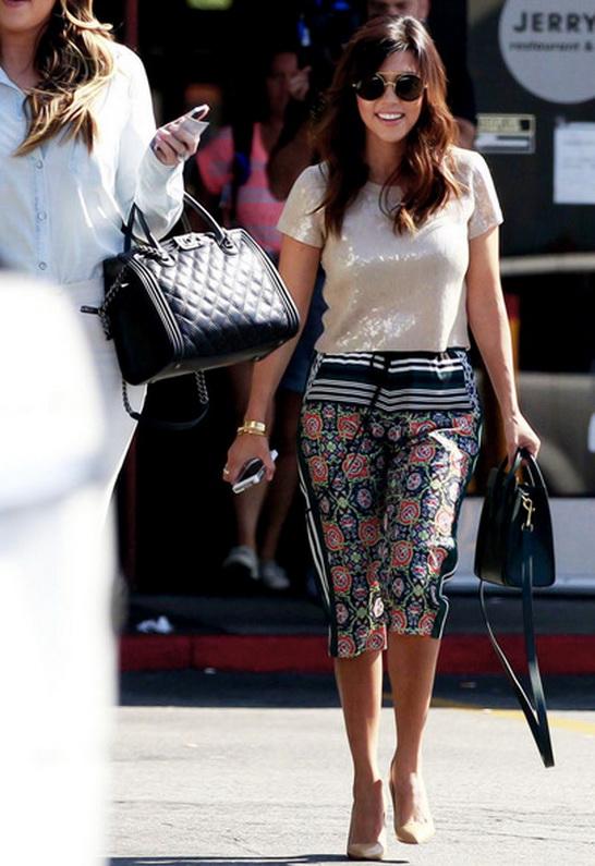 Kourtney Kardashian in Wildfox Sun