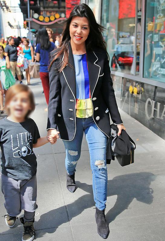 Kourtney Kardashian in J Brand