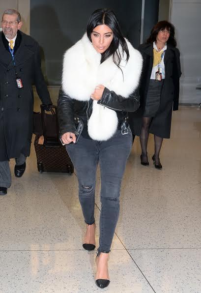 Kim Kardashian wearing J Brand Photo Ready Mercy Cropped Mid Rise Skinny Jean