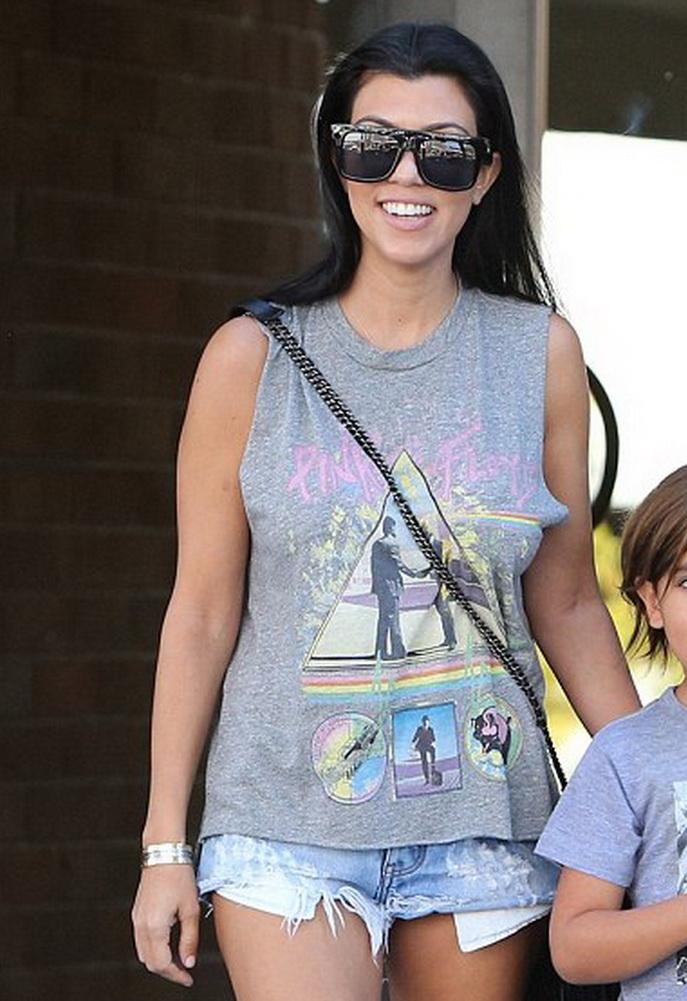 Kourtney Kardashian in Lauren Moshi