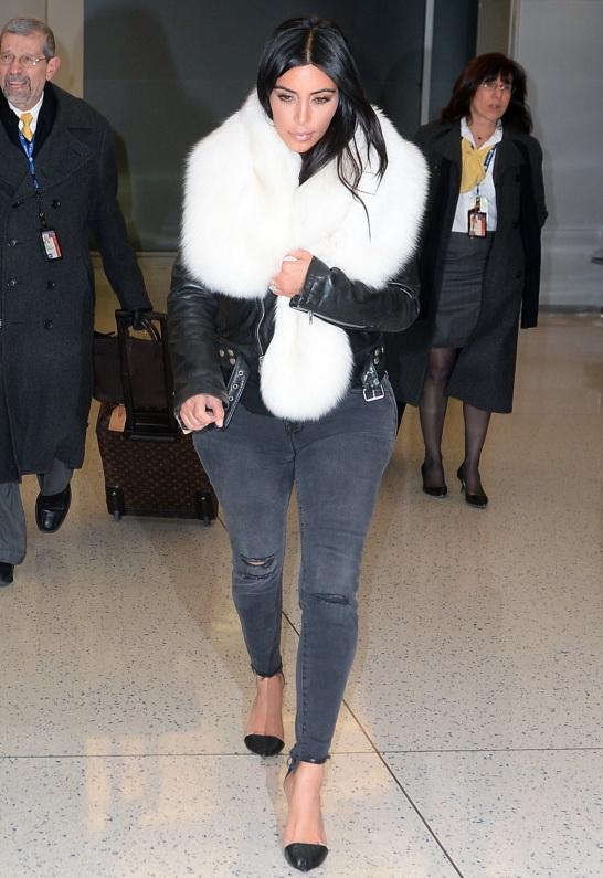 Kim Kardashian in BLK DNM